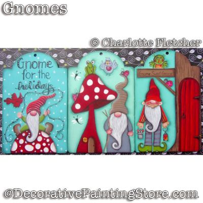 Gnomes e-Pattern - Charlotte Fletcher - PDF DOWNLOAD