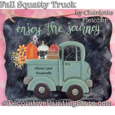 Fall Squatty Truck DOWNLOAD Painting Pattern - Charlotte Fletcher