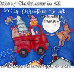 Merry Christmas to All DOWNLOAD Painting Pattern - Charlotte Fletcher