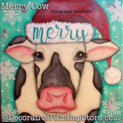 Merry Cow DOWNLOAD Painting Pattern - Charlotte Fletcher