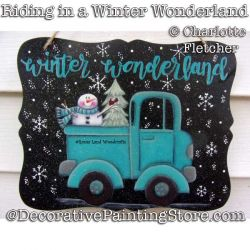 Riding in a Winter Wonderland DOWNLOAD Painting Pattern - Charlotte Fletcher