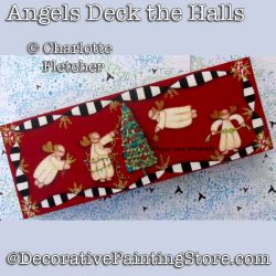 Angels Deck the Halls DOWNLOAD Painting Pattern - Charlotte Fletcher