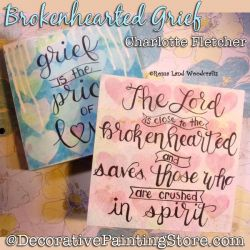 Brokenhearted Grief DOWNLOAD Painting Pattern - Charlotte Fletcher