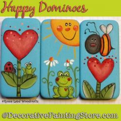 Happy Dominoes DOWNLOAD Painting Pattern - Charlotte Fletcher