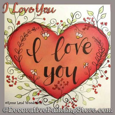 I Love You DOWNLOAD Painting Pattern - Charlotte Fletcher