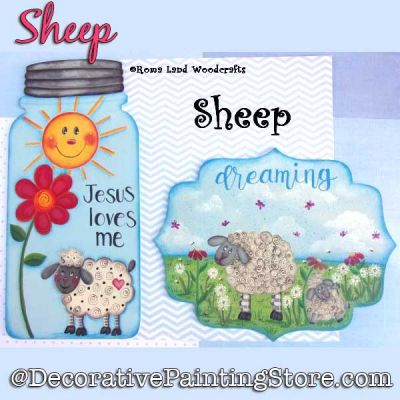 Sheep DOWNLOAD Painting Pattern - Charlotte Fletcher