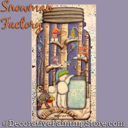 Snowman Factory DOWNLOAD Painting Pattern - Charlotte Fletcher