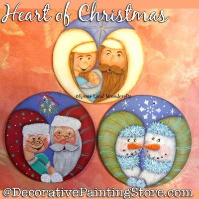Heart of Christmas DOWNLOAD Painting Pattern - Charlotte Fletcher