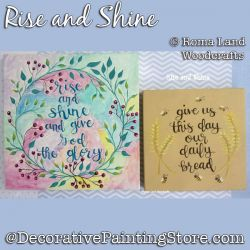 Rise and Shine DOWNLOAD Painting Pattern - Charlotte Fletcher