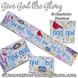Give God the Glory DOWNLOAD Painting Pattern - Charlotte Fletcher