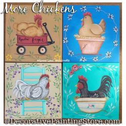 More Chickens DOWNLOAD Painting Pattern - Charlotte Fletcher