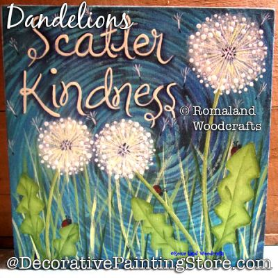 Dandelions DOWNLOAD Painting Pattern - Charlotte Fletcher