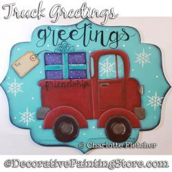 Truck Greetings DOWNLOAD Painting Pattern - Charlotte Fletcher