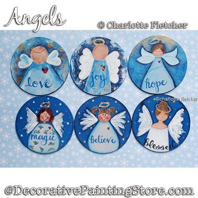Angels Ornaments DOWNLOAD Painting Pattern - Charlotte Fletcher