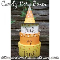 Candy Corn Boxes Painting Pattern PDF DOWNLOAD - Charlotte Fletcher