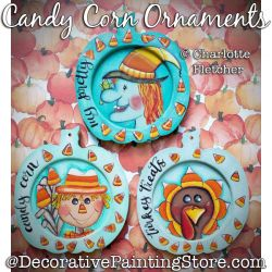 Candy Corn Ornaments Painting Pattern PDF DOWNLOAD - Charlotte Fletcher