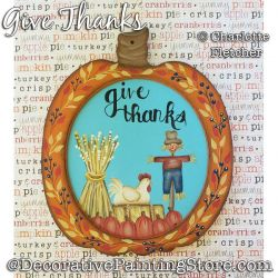 Give Thanks Painting Pattern PDF DOWNLOAD - Charlotte Fletcher