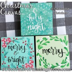 Christmas Canvas Painting Pattern PDF DOWNLOAD - Charlotte Fletcher
