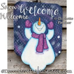Snow Welcome (Snowman) Painting Pattern PDF DOWNLOAD - Charlotte Fletcher