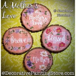 A Mothers Love Ornaments Painting Pattern PDF DOWNLOAD - Charlotte Fletcher