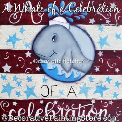 A Whale of a Celebration Painting Pattern PDF DOWNLOAD - Charlotte Fletcher