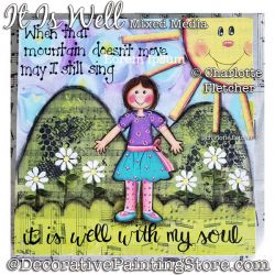 It Is Well (With My Soul) Mixed Media Painting Pattern PDF DOWNLOAD - Charlotte Fletcher