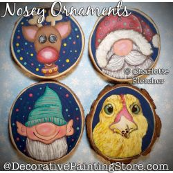 Nosey Ornaments Painting Pattern PDF DOWNLOAD - Charlotte Fletcher