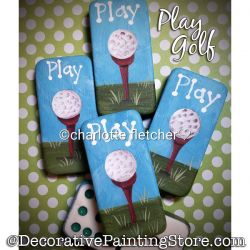 Play Golf (Dominoes) Painting Pattern PDF DOWNLOAD - Charlotte Fletcher