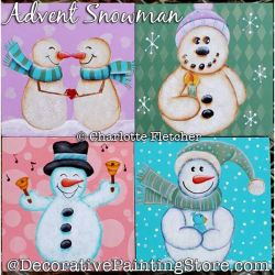 Advent Snowmen Painting Pattern PDF DOWNLOAD - Charlotte Fletcher