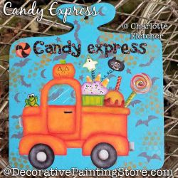 Candy Express Truck Painting Pattern PDF DOWNLOAD - Charlotte Fletcher