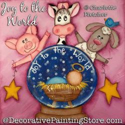 Joy to the World Painting Pattern PDF DOWNLOAD - Charlotte Fletcher