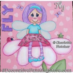 Fly (Fairy) Painting Pattern PDF DOWNLOAD - Charlotte Fletcher