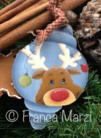 Ralph, the Furry Moose Ornament e-Pattern -Franca Marzi - PDF DOWNLOAD