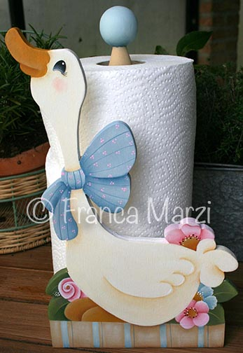 Sweet Cindy Goose Towel Stand ePattern - Franca Marzi - PDF DOWNLOAD