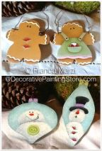 Snowman and Ginger Ornaments ePattern - Franca Marzi - PDF DOWNLOAD