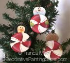 Peppermint Ornaments ePattern - Franca Marzi - PDF DOWNLOAD