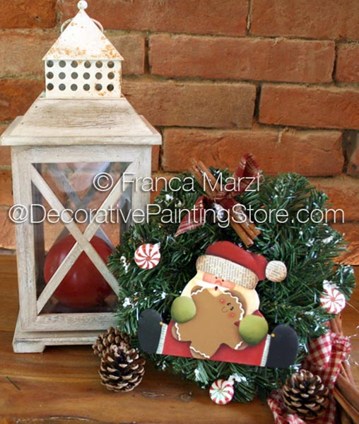 Sweet Christmas Santa Wreath ePattern - Franca Marzi - PDF DOWNLOAD