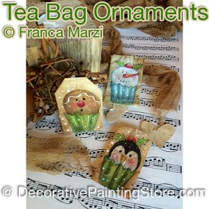Tea Bag Ornaments ePattern - Franca Marzi - PDF DOWNLOAD