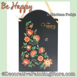 Be Happy Painting Pattern PDF DOWNLOAD - Marlene Fudge