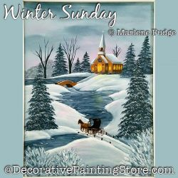 Winter Sunday Painting Pattern PDF DOWNLOAD - Marlene Fudge