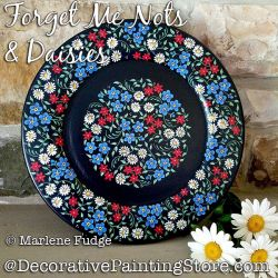 Forget Me Nots and Daisies Painting Pattern PDF DOWNLOAD - Marlene Fudge