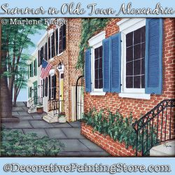Summer in Olde Town Alexandria Painting Pattern PDF DOWNLOAD - Marlene Fudge