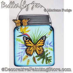 Butterfly Jar Painting Pattern PDF DOWNLOAD - Marlene Fudge