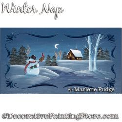 Winter Nap Painting Pattern PDF DOWNLOAD - Marlene Fudge
