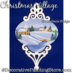 Christmas Village Painting Pattern PDF DOWNLOAD - Marlene Fudge