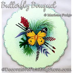 Butterfly Bouquet Painting Pattern PDF DOWNLOAD - Marlene Fudge