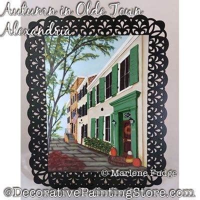 Autumn in Olde Town Alexandria Painting Pattern PDF DOWNLOAD - Marlene Fudge