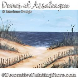 Dunes at Assateague Painting Pattern PDF DOWNLOAD - Marlene Fudge