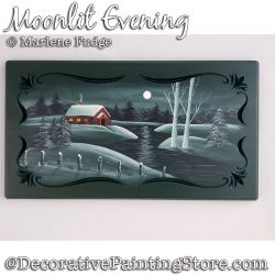 Moonlit Evening Painting Pattern PDF DOWNLOAD - Marlene Fudge