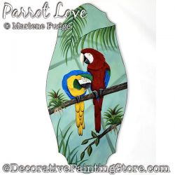 Parrot Love Painting Pattern PDF DOWNLOAD - Marlene Fudge
